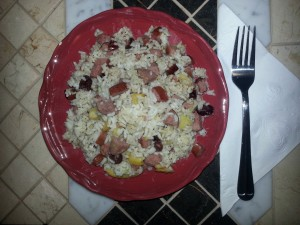 Natasha's Apple Sausage Rice recipe