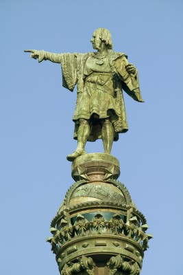 Christopher Columbus Statue Barcelona Spain.123rf